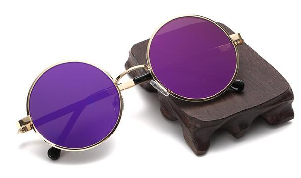 summer woman Retro plane sunglasses metal color film sun glasses ladies fashion Dazzle colour sunglasses driving glasses A++