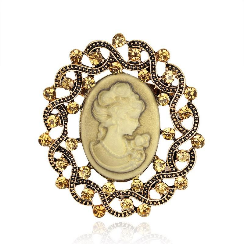 Exceptional Brooch Pins For Female Fashion Rhinestone Pins And Brooches For Women  Vintage Cameo Brooch For Scarf Broches Fashion Jewelry Brooches For Women  Rhinestone ...