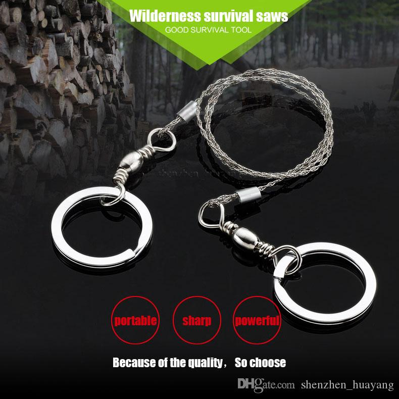 600mm German stainless steel Sporting Gifts Silver Steel Wire Saw Scroll Saw Emergency Hiking Camping Hunting Outdoor Survival Tool
