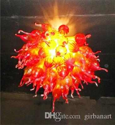 Hand Blown Glass Balls Chandeliers Lamp Small Cheap Modern Home Decorations Living Room Lights Round Shape LED Blown Murano Glass Chandelier