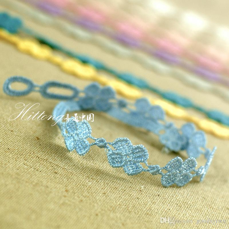 Mode Vintage Style couleurs au hasard italienne Tissus unisexe fil tricotée Amitié Bracelet d'été à quatre feuilles Trèfle Bracelets