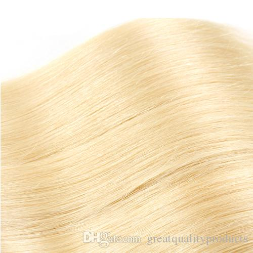 Brazilian Straight Hair Grade 8A Color #613 Bleach Blonde Human Hair Weave Bundles Brazilian Hair Extensions 8-30 Inch hot sell