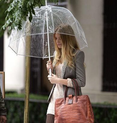 """Arrive 34"""" Big Clear Cute Bubble Deep Dome Umbrella Girl"""