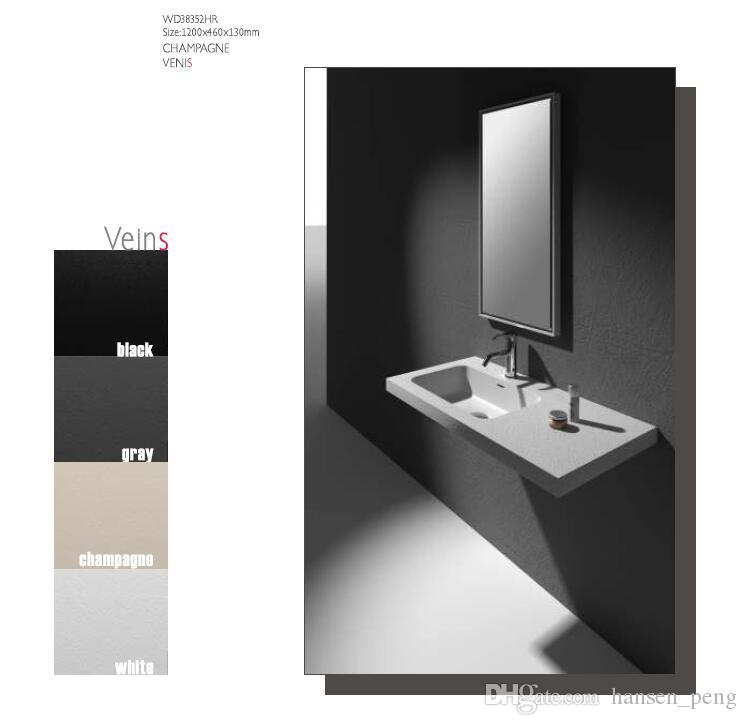Rectangular Bathroom Solid Surface Stone Wash Basin Under-Counter Matt White Or Glossy Laundry Vessel Sink RS38350H