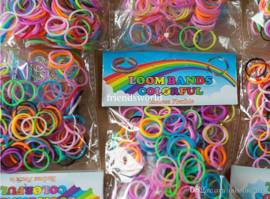 rubber bracelet making kit loom pieces product colorful rainbow bands band