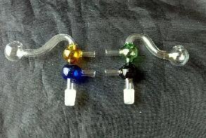 S color double bubble pot ---- hookah smoking pipe Glass gongs - oil rigs glass bongs glass hookah smoking pipe - vap- vaporizer