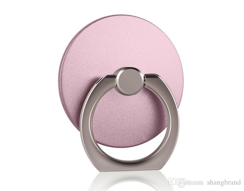 360 Degree Round Finger Ring Mobile Phone Smartphone Stand Holder For iPhone and all Smart Phone Luxury Models