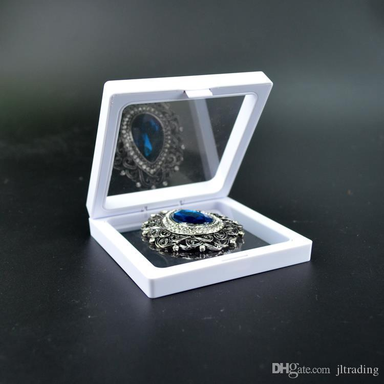 Cassa di imballaggio del bague del supporto del banco di mostra del pendente di esposizione dell'anello dei gioielli dell'animale domestico Proteggere le pietre dei gioielli Cassa di presentazione mobile Dispaly