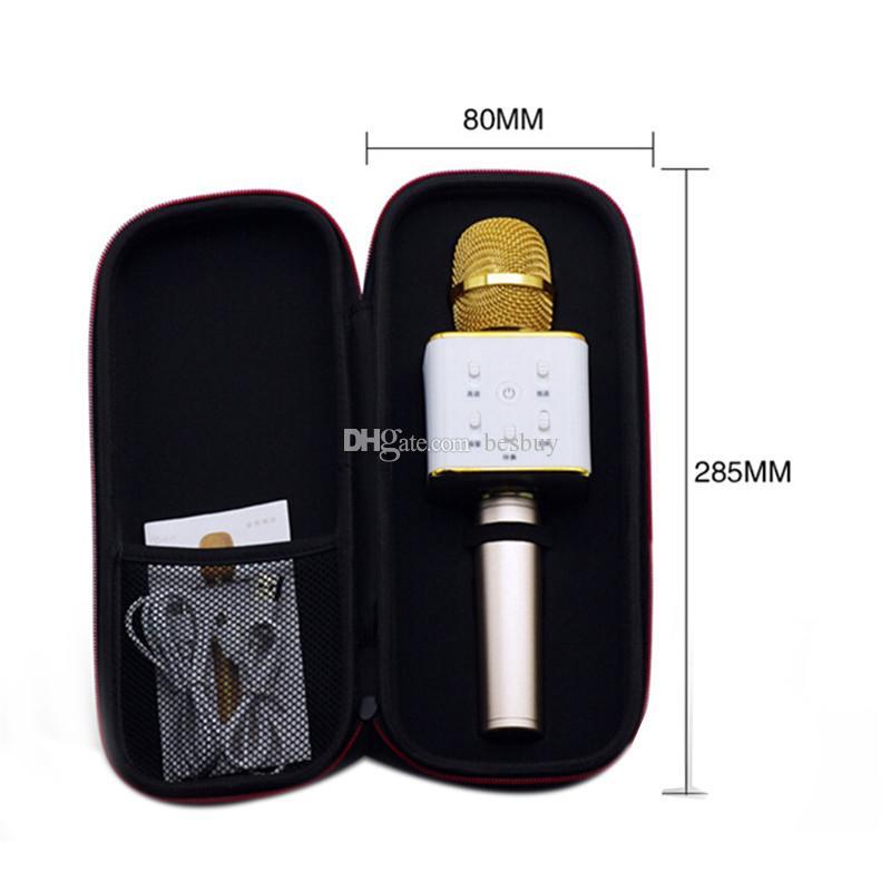 Q7 El Mikrofonu Hoparlör Ile Mic Ile Bluetooth Kablosuz KTV Mic Mikrofonun El Smartphone Taşınabilir Karaoke Player 0802218