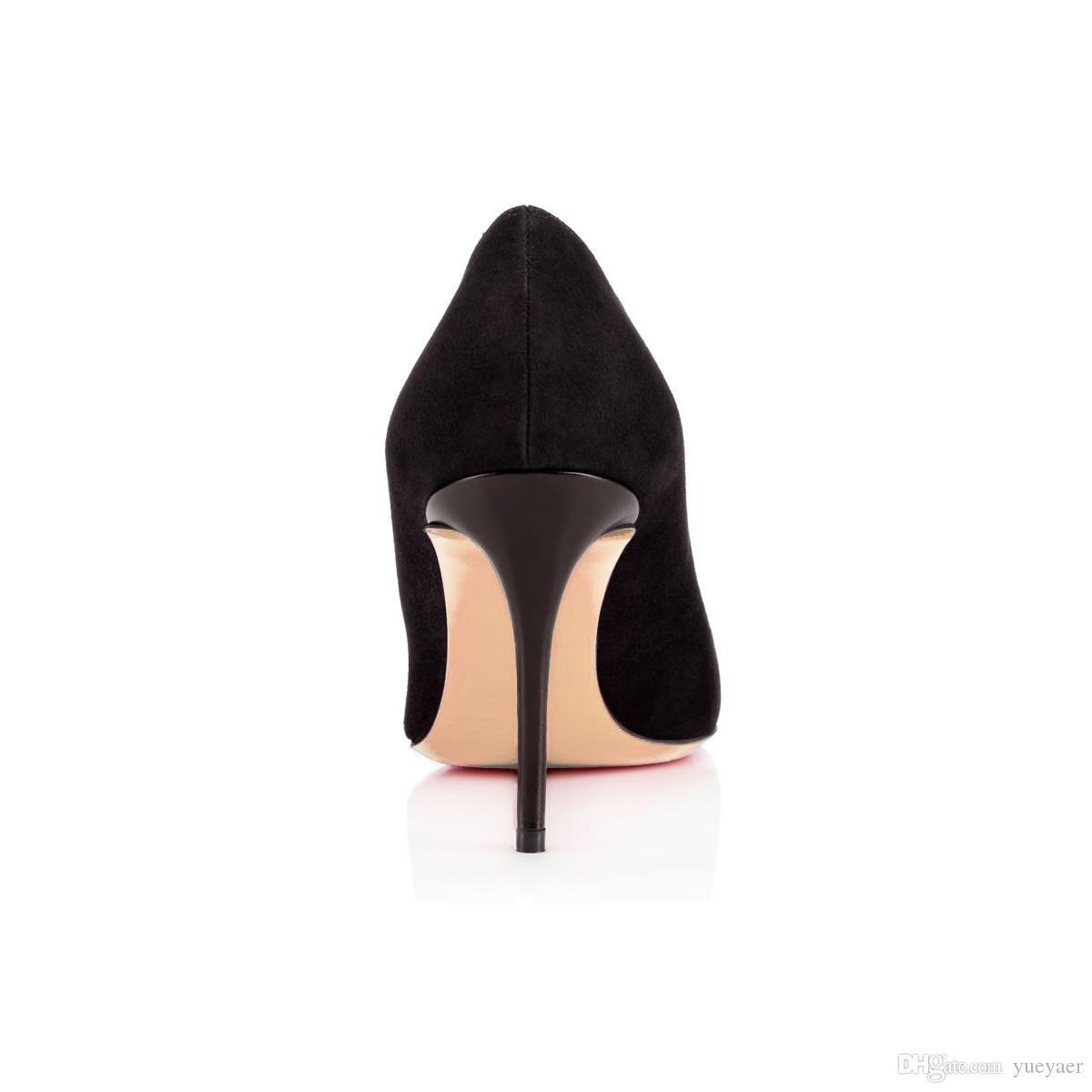 Karmran Mulheres Handmade Moda Faronessa Estilo 85mm Rodada Toe Borboleta Bombas de Salto Alto Sapatos Preto Z62810