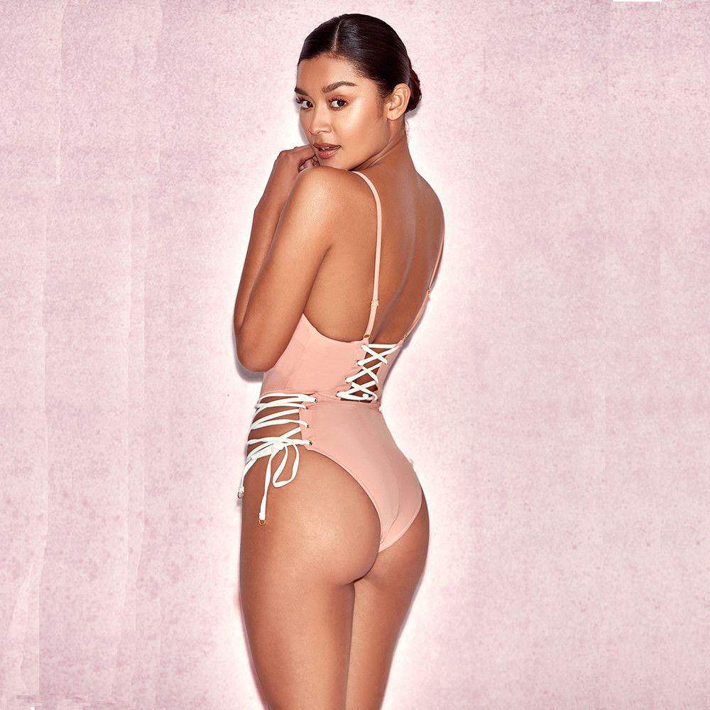 Moda sexy Cross correias biquíni macacões one-pieces Swimsuit plus size mulheres nova Europa laço Swimwear Biquini Maiô