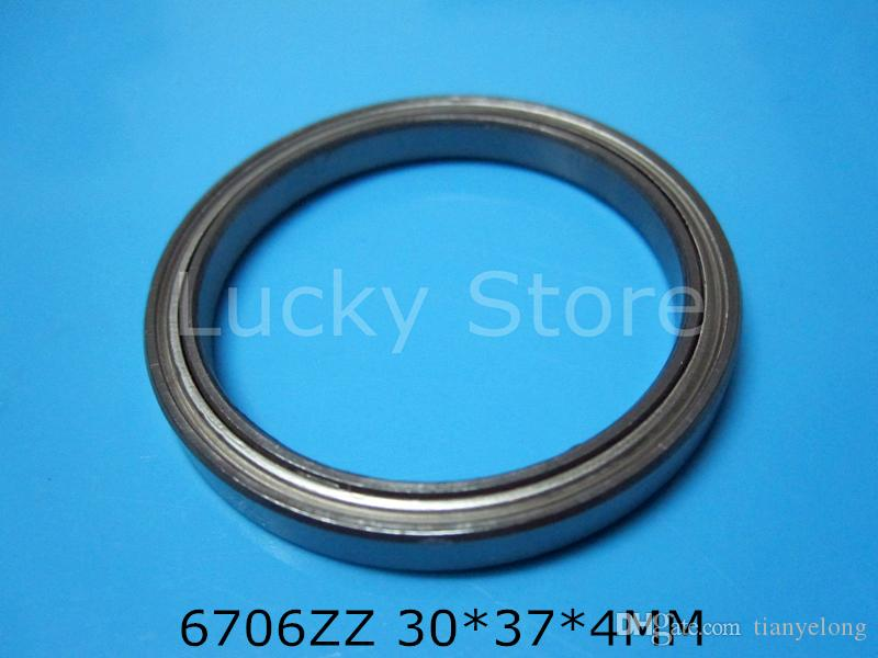 6706ZZ подшипник бесплатная доставка 6706 6706ZZ 30 * 37 * 4 мм хромированная сталь радиальный подшипник металлический герметичный тонкий настенный подшипник