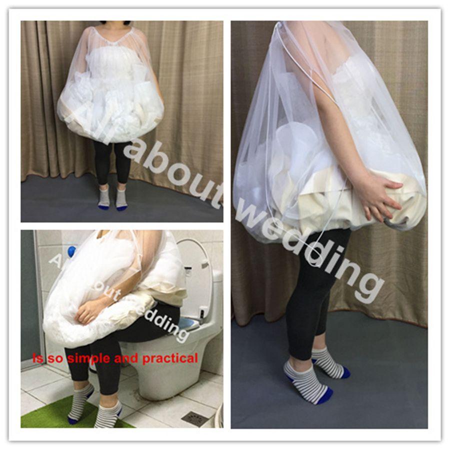 Brideu0027S Buddy Save You From Toilet Water Bridal Bathroom Helper Wedding  Petticoat Bridal Friend Dress Slip Gather Skirt Wedding Gown Petticoat  White ...