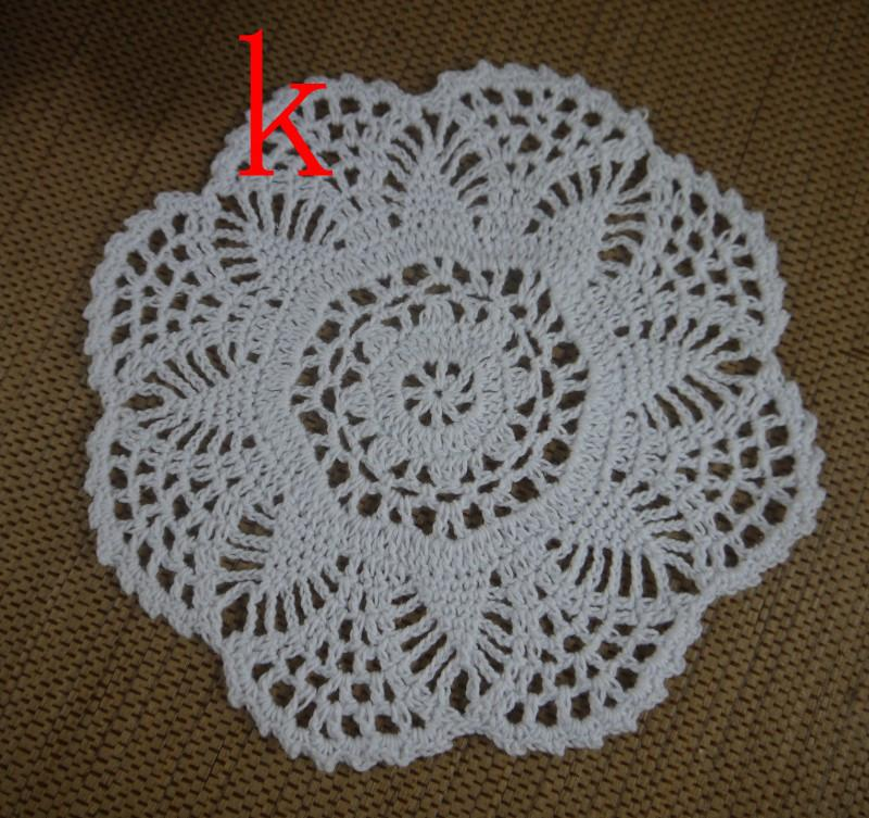 wholesale 100% cotton lace hand made Crochet Doilies cup mat Round Doily 18-20cm ab3h58