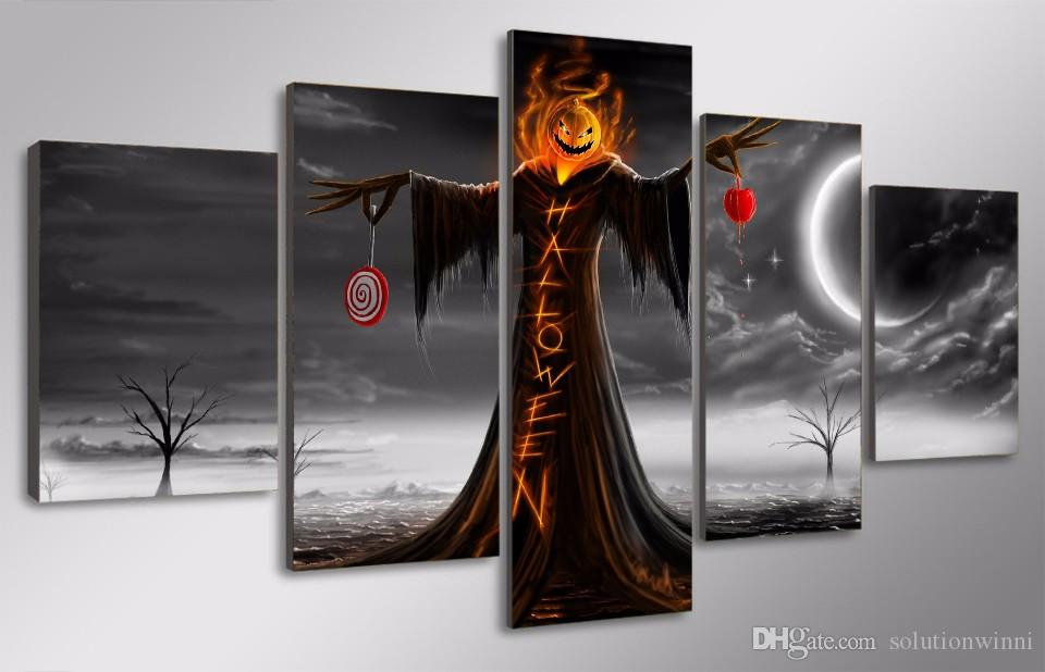 HD Printed halloween design Painting Canvas Print room decor print poster picture canvas artists paintings