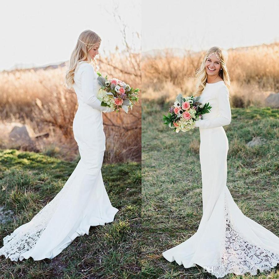 2016 Bohemian Hippie Ivory Jersey Rustic Wedding Dresses Vintage ...
