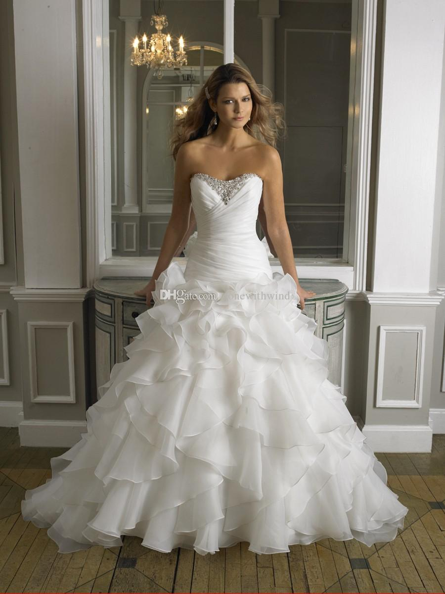 Sweetheart Neckline Drop Waist Wedding Dress | Elegant Weddings