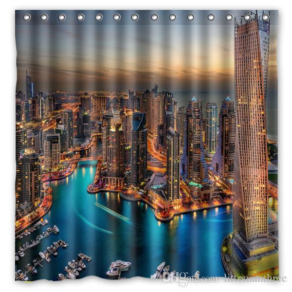Acheter Dubai Uae Buildings Skyscrapers Night Design Rideau De ...