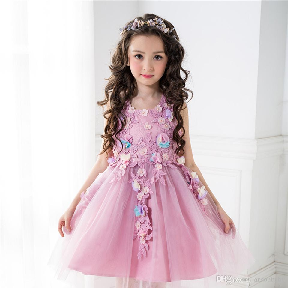 Compre Embroma Los Vestidos De Partido De Cumpleaños De La Mariposa ...
