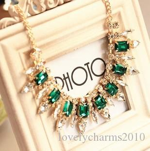 New American Faceted Exquisite Crystal Gem luxurious Evening Dress Party Stage Bib Statement Necklace Jewelry for Women Collar Choker Gifts