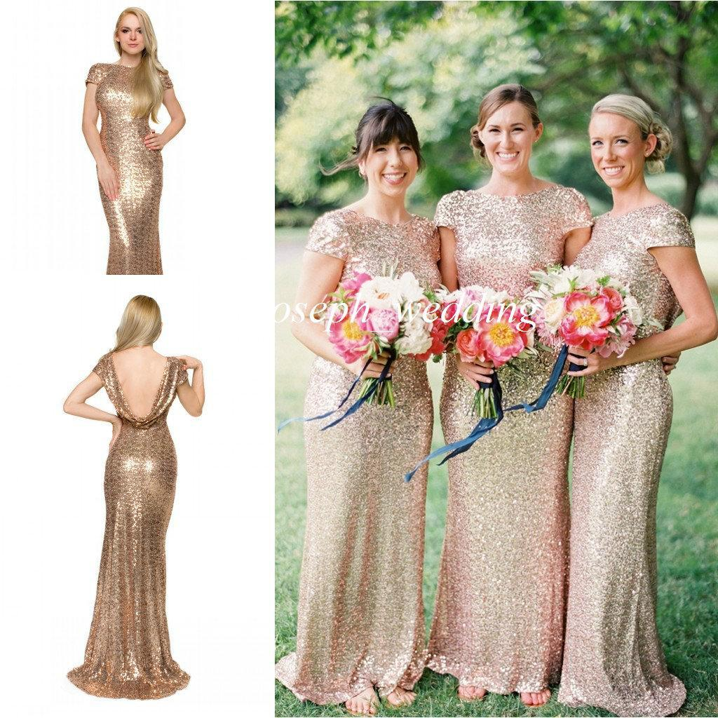 2017 new gold mermaid sequined cowl open back long maid of honor 2017 new gold mermaid sequined cowl open back long maid of honor bridesmaid dress for wedding women gown zbd 269 two piece bridesmaid dresses asian ombrellifo Gallery
