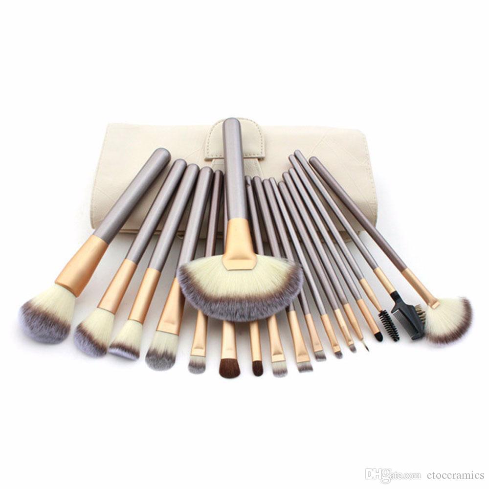 12/Pincel de maquillaje Cepillo de cepillado sintético Cosméticos profesionales Base de maquillaje Powder Blush Eyeliner Brushes