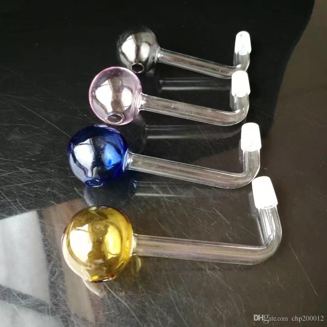 Colore ad angolo retto pentola grande bolla, vetro all'ingrosso Bong Accessori, vetro acqua tubo di fumo, trasporto libero