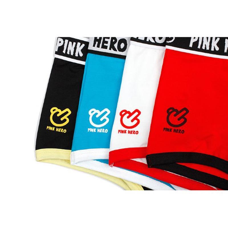Fábrica de algodón Sexy boxers hombres pantalones cortos ropa interior transpirable bragas M-XXL Plus tamaño negro / blanco / azul / rojo envío gratis