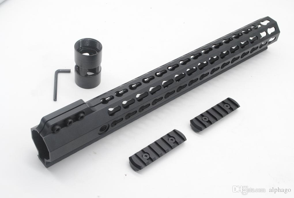 Tactical Ultralight 15 inch Key mod Picatinny Rail for AR15 M4 M16 Free Float Handguard