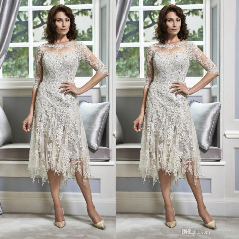 Outdoor Wedding Mother Of The Bride Dresses: Half Sleeve Lace Mother Of The Bride Dresses For Weddings
