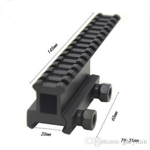 Tactical Riser Extended See Through Long Rail 20mm Picatinny Weaver Rail Scope Mount Base