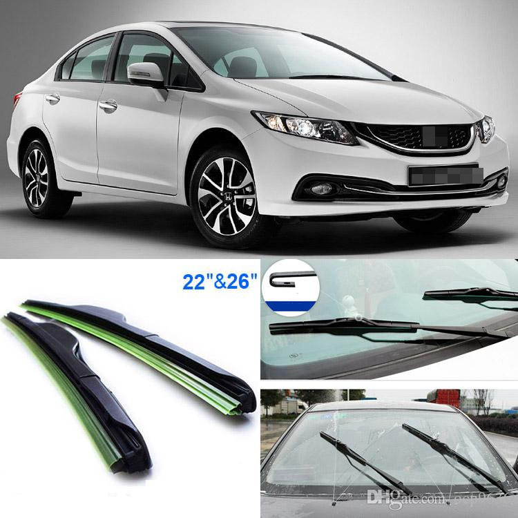 26+22 Front Windscreen Windshield Wiper Blades Soft Rubber WindShield Wiper  Blade For Honda Civic Wiper Online With $20.64/Piece On Ocp9636u0027s Store ...