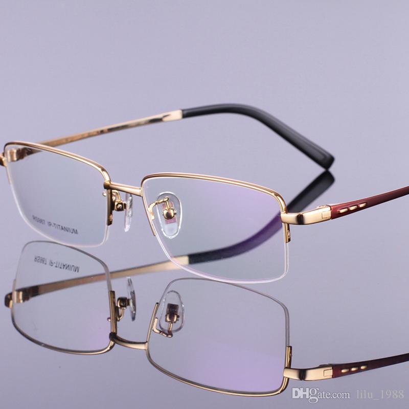 Großhandel Titan Brillengestell Halbrand Brillen Rahmen Männer ...