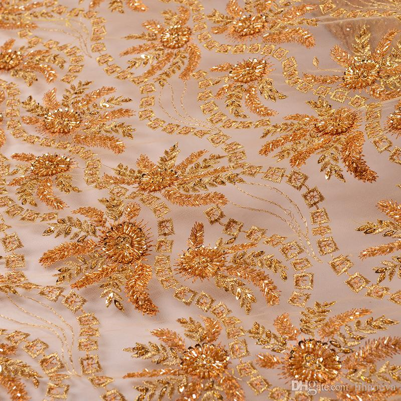 2019 Lace Fabric Net Cloth Embroidered Bud Silk Fabrics