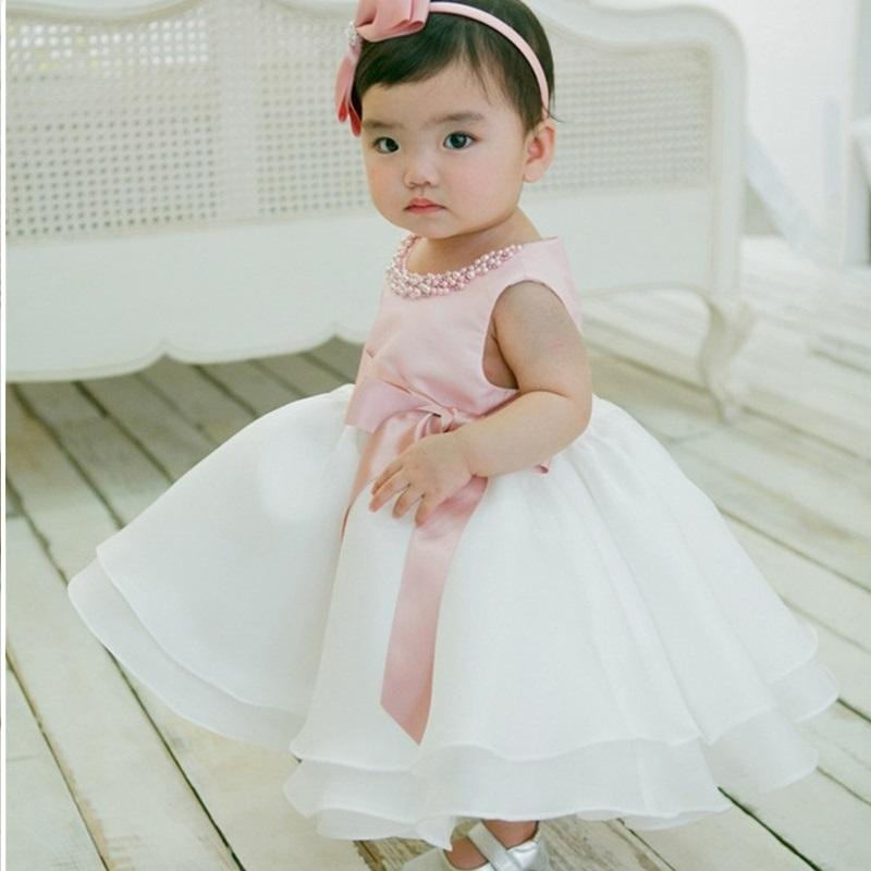 6b833ce5abe41 2019 Newborn Baby Girl 1st Birthday Outfits Little Bridresmaid Wedding Gown  Kids Frock Designs Girls Christmas Dress Baby Tutu Dress DK1039CR From ...