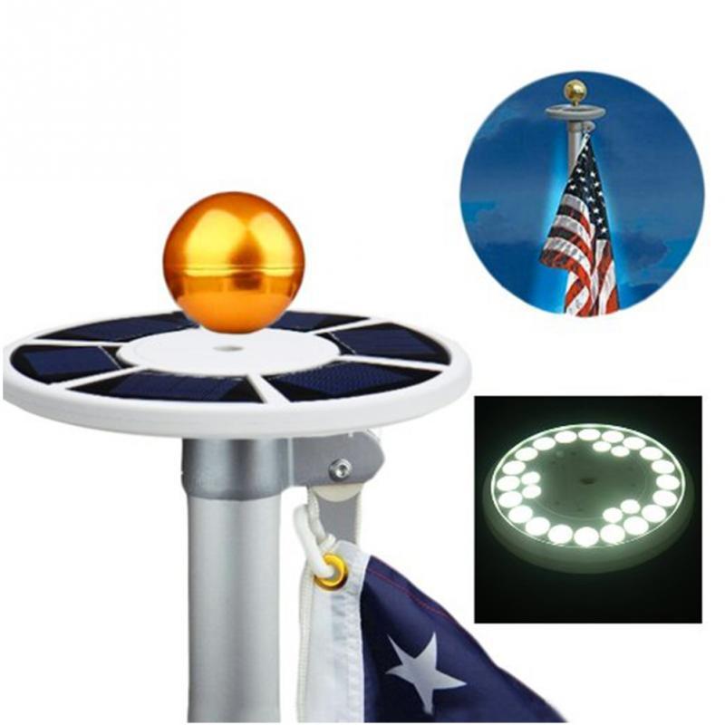 High Bright 26 LED Solar Powered bandiera palo della luce 3W luce spot solare esterna Giardino Ombrello Paesaggio LED