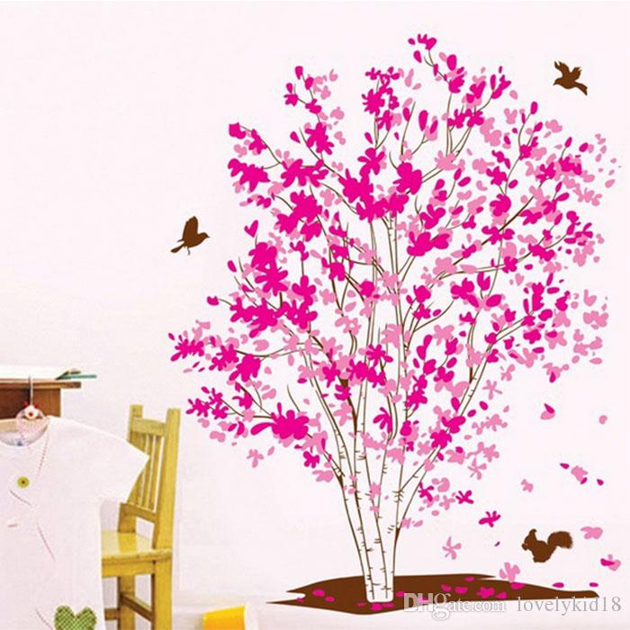 Lovely Dream Tree Birds Wall Stickers Plant Animal Wall Decals Wallpaper  For Bedroom Living Room Home Decorations Ws512 Decorative Wall Transfers  Design ...