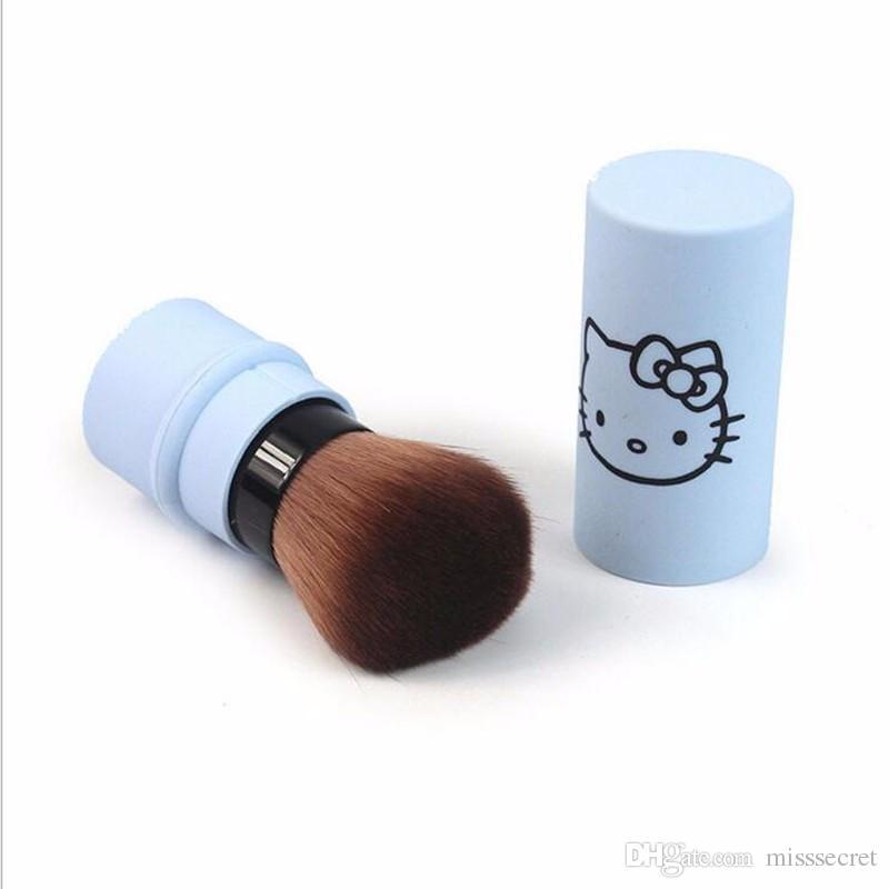 Hello Kitty Makeup Brushes kitty Single Face Foundation Powder Brush Cute Cartoon KT Blush Brush Makeup Brush Protable Make up Brushes Tools