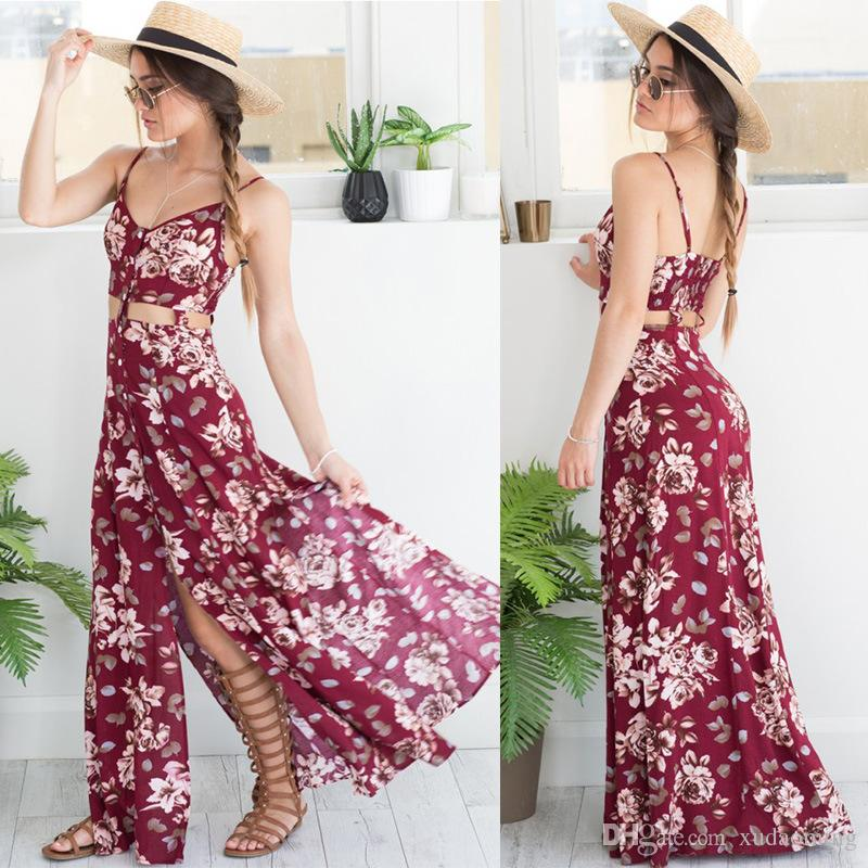 New Printing Longuette Sexy Vent V Lead Maxi Beach Dress Long Sleeves Casual Work Cheap Denim For Women 2016 Bodycon 95 Dresses