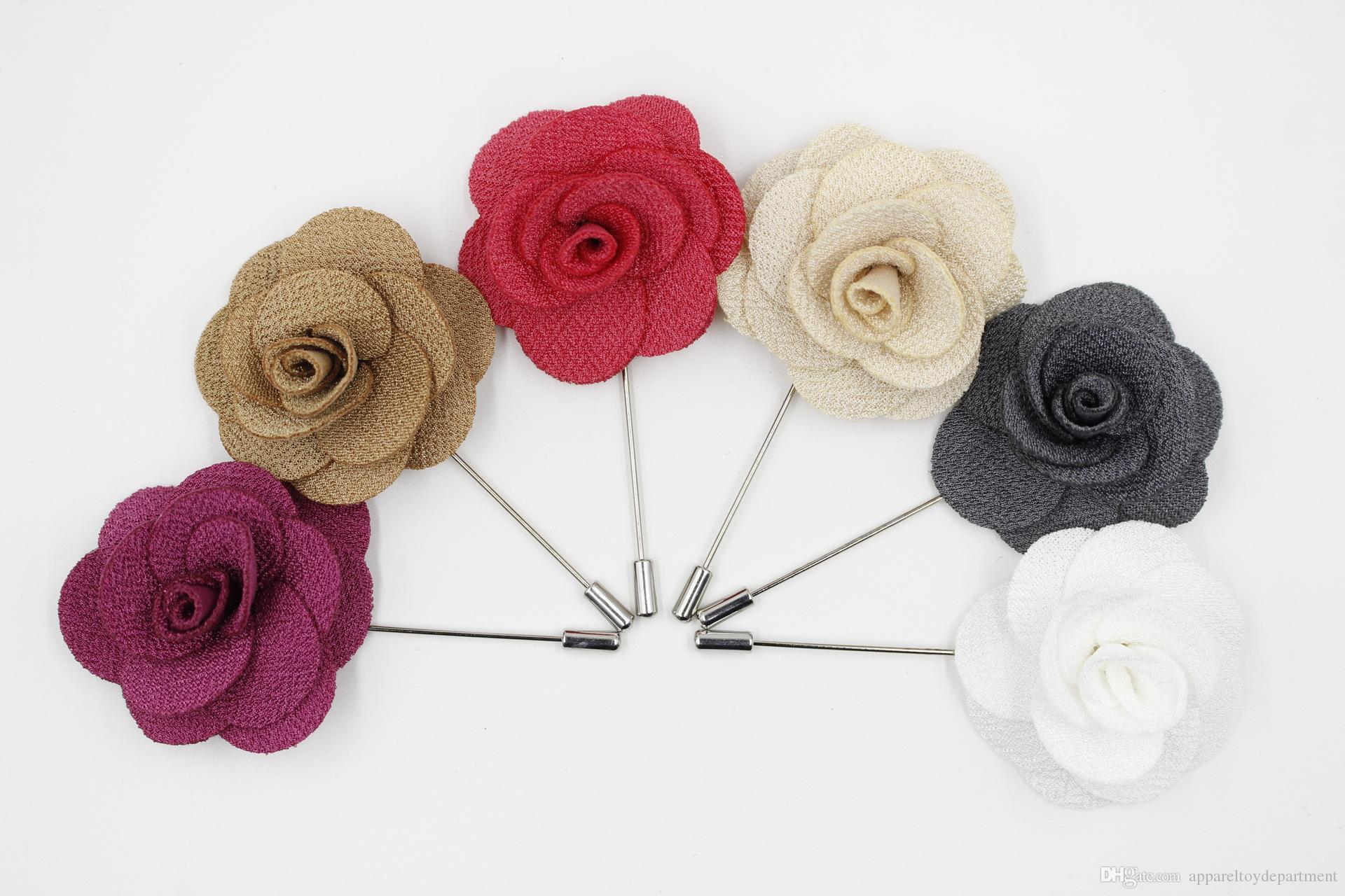 Popolare Acquista Pins Spille Risvolto Fiore Womens Camellia Mano Fiore All  AT65