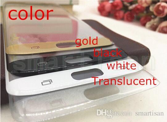 Tam Ekran Koruyucu Temperli Cam Kapak Tüm Ekran Eğrisi Ekran Koruyucu Perakende Paketi Ile Samsung S7 kenar için / ahşap kutu