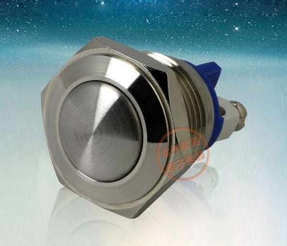 YJ-GQ16B-10 푸시 버튼 스위치 304 스테인레스 스틸 1NO 16mm 셀프 잠금 또는 자체 리셋 방수 스크류 핀 전원 스위치