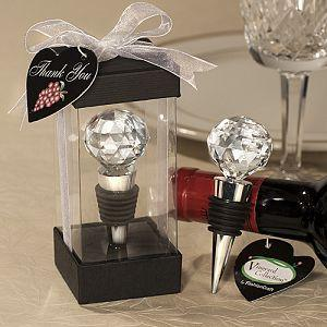 wedding event party favor gifts and giveaways for guests--Vineyard Collection Crystal Ball Design Wine Stoppers 80pcs/lot