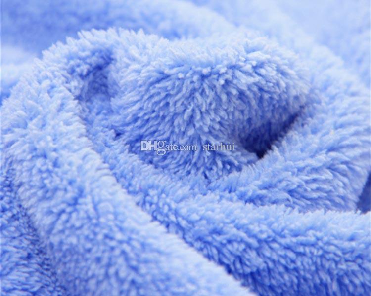 DHL Duschkappen Frauen Mikrofaser Magie Bowknot Duschkappen Haar Trocken Trocken Turban Wrap Handtuch Hut Kappe Quick Dry Trockner Bad 25 * 28 cm WX-H03