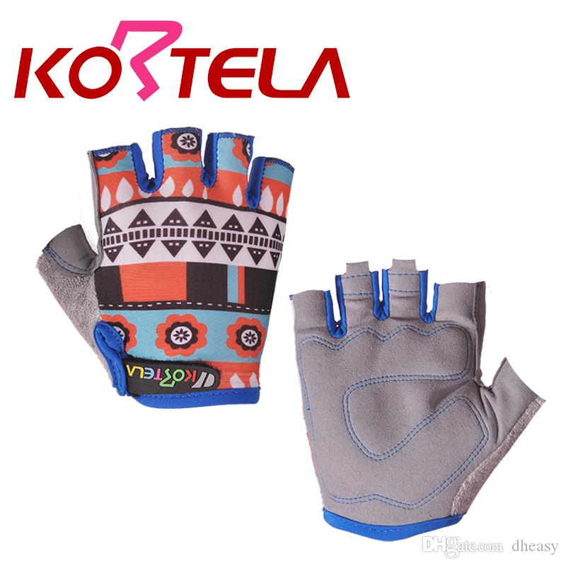Al por mayor-niños deportes guantes de ciclismo medio dedo niños niños niños deportes de la aptitud guantes niñas gimnasio guantes de entrenamiento ejercicio de viaje al aire libre