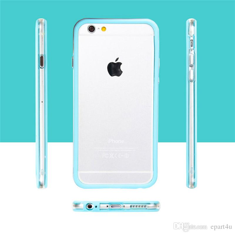 Flexible Silicone Protective Bumper Case Rubber TPU for iPhone 7 7 plus Bumper Cover Candy Colorful cellphone Bumper for Apple 5 5s 6 6s