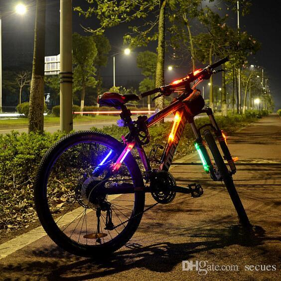 LED Light Bar Bicycle Bike LED Bar Side Light Waring Light Silicone Cycling Outdoor Hiking Free Shipping