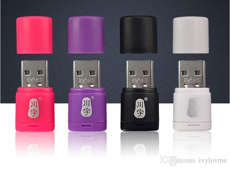 Alta calidad c286 Envío gratis / USB 2.0 Lector de tarjetas Micro SD / TF Card Reader - Color mezclado