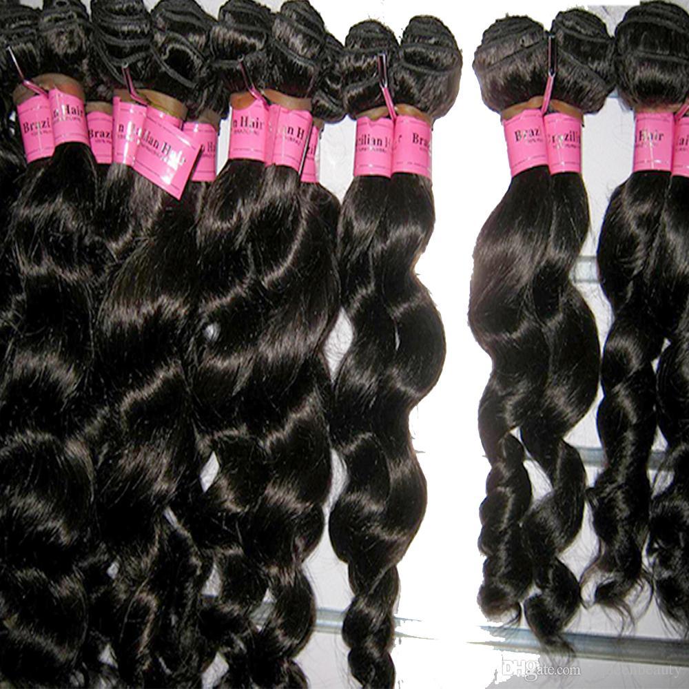 Latest Virgin Mink Brazilian Loose Wave Hair Weft Silky Weave 4