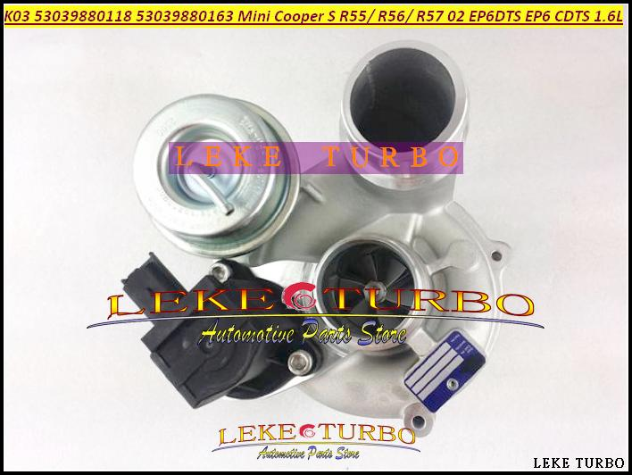 TURBO K03 53039880118 53039700118 53039880163 53039880181 53039700163 53039700181 For BMW Mini Cabrio Cooper EP6 EP6DTS N14 1.6L (2)
